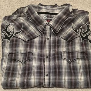 NWOT Men's Harley Style Button Down